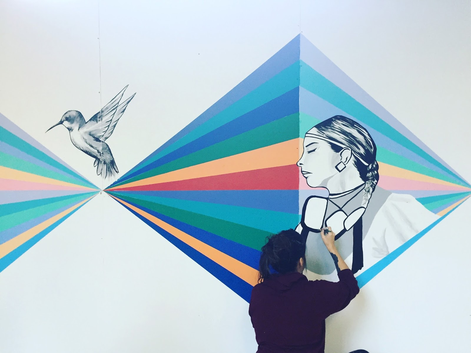 The Shawl Dancer: a mural at The Forks | The Forks